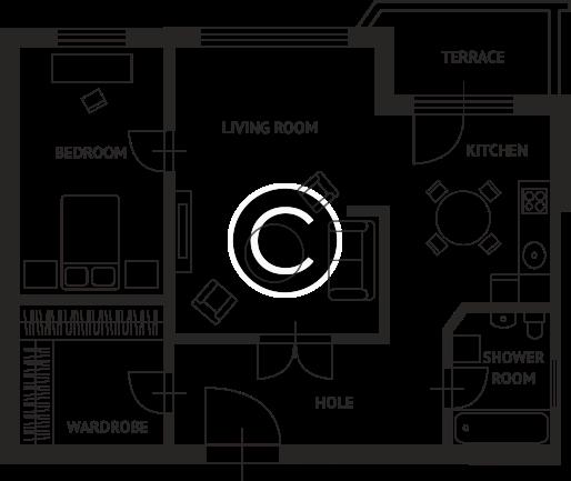 Apartment Plan CC1